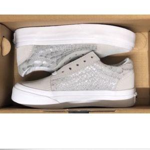 Vans Old Skool Metall Snake Silver True White Shoe
